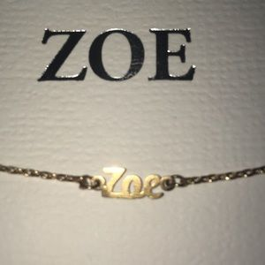 "Jewelry - Customized ""ZOÉ"" Nameplate Bracelet"